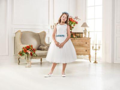 Нарядное платье Les Gamins для девочки - белый