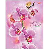 """Тетрадь на кольцах А5 120л. """"Розовая орхидея"""""""