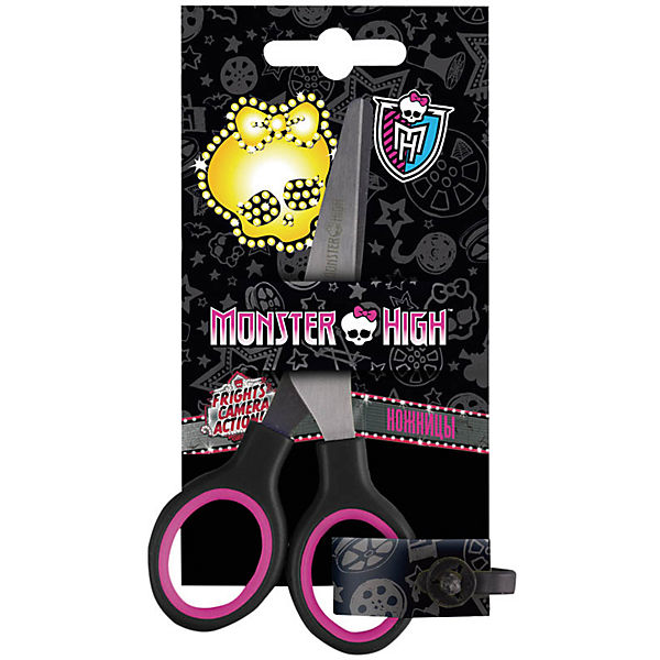 """Ножницы детские Hatber """"Monster High"""" 13см,  европодвес"""