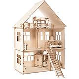 """Сборная деревянная модель Хэппикон """"ХэппиДом. Коттедж с мебелью"""""""