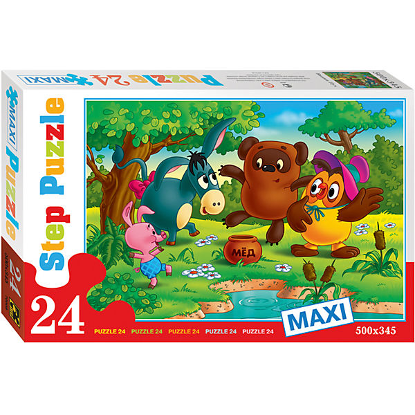 "Пазл Maxi Step Puzzle ""Винни-Пух"", 24 элемента"