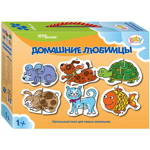"""Напольный пазл 6 в 1 Step Puzzle """"Домашние любимцы"""", по 2 элемента на каждую картинку"""