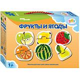 """Напольный пазл 6 в 1 Step Puzzle """"Фрукты и ягоды"""", по 2 элемента на каждую картинку"""