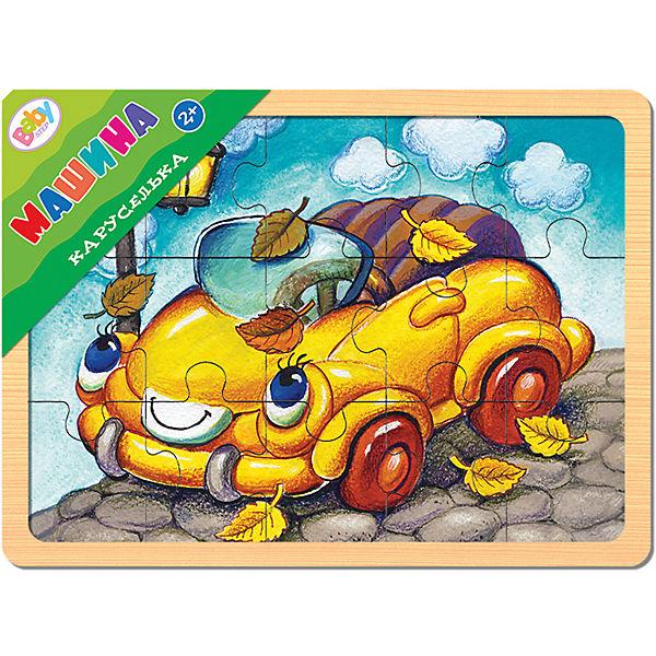 "Пазл в рамке Step Puzzle Каруселька ""Машина"", 15 элементов"