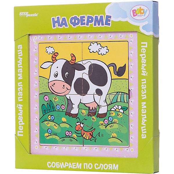 """Многослойный пазл Step Puzzle Baby Step """"На ферме"""""""