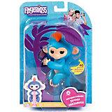 Интерактивная обезьянка Fingerlings Борис, 12 см (синяя) WowWee