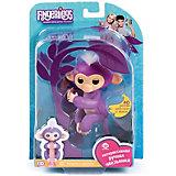Интерактивная обезьянка Fingerlings Мия, 12 см (фиолетовая) WowWee