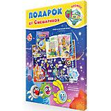 Подарок для малышей от Смешариков. Космос. Атлас с наклейками+Игра-ходилка ГЕОДОМ