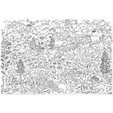Большая раскраска. Лес и Горы. 101х69 см. ГЕОДОМ