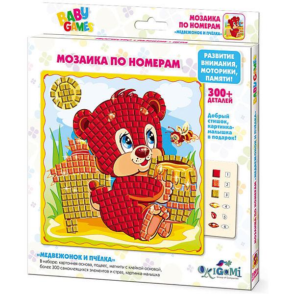 Для Малышей   Мозаика по номерам Медвежонок и Пчёлка