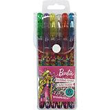 Набор гелевых глиттерных ручек Barbie 6 цветов