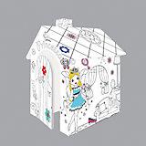 """Игровой картонный домик раскраска """"Принцесса"""",Mochtoys"""