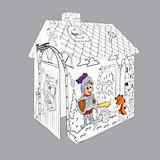 """Игровой картонный домик-раскраска """"Рыцарь"""",Mochtoys"""