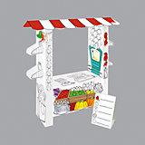 """Игровой картонный домик-раскраска """"Супермаркет"""",Mochtoys"""