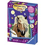 Раскрашивание по номерам «Лошадь в лунном свете» Размер картинки – 18*13 см