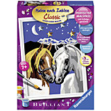 Раскрашивание по номерам «Две лошадки» Размер картинки – 13*18 см
