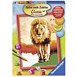 Раскрашивание по номерам «Гордый лев» Размер картинки – 18*24 см