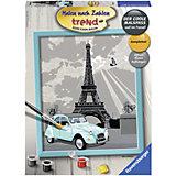 Раскрашивание по номерам «Париж» Размер картинки – 24*30 см