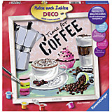 Раскрашивание по номерам «Кофе» Размер картинки – 30*30 см