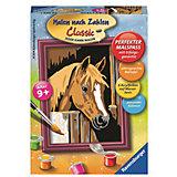 Раскрашивание по номерам  «Лошадь в стойле» Размер картинки