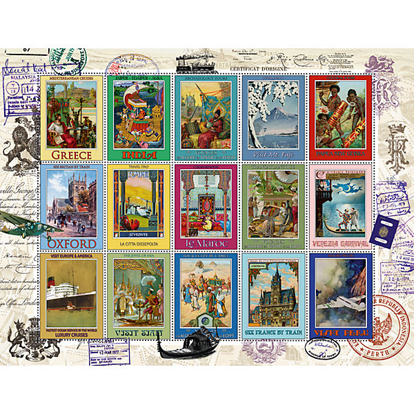 Пазл «Коллекция марок» 2000 шт