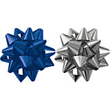 Набор из 2-х металлизированых бантов-цветков (малых).