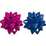Бант-звезда, 2 штуки в PP пакете с подвесом (красный, синий)