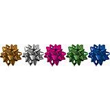 Набор из 5-и металлизированых бантов-звезд Regalissimi