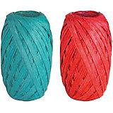 Набор из 2-х упаковочных лент-коконов, рафия
