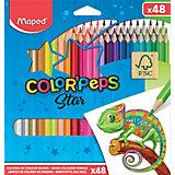 Карандаши цветные COLOR'PEPS, 48 цветов, Maped