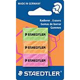 Набор цветных ластиков 526 серии, 3 шт., Staedtler