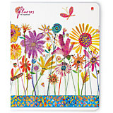 Тетрадь Цветы. Счастье 48 листов, клетка, 5 шт., рисунок в ассортименте