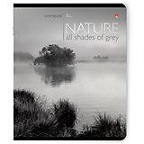 Тетрадь Природа Монохром 48 листов, клетка, 5 шт. рисунок в ассортименте