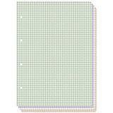 Сменные блоки для тетрадей на кольцах А5, 80л. (4 цвета)