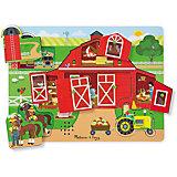"""Рамка-вкладыш Melissa & Doug """"Вокруг фермы"""" со звуком"""