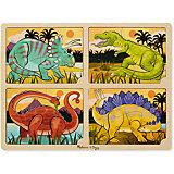 """Набор пазлов Melissa & Doug """"Динозавры"""" 4 в 1"""