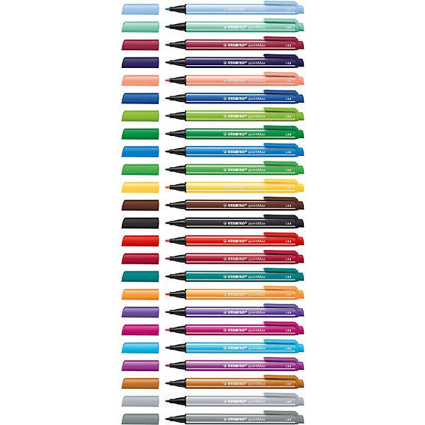 Набор капилярных ручек STABILO, pointMax, 24цв, в пластике, блистер