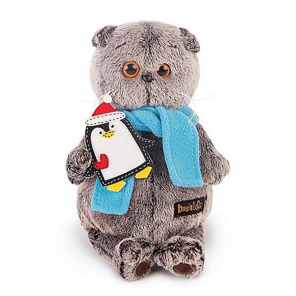 Басик в шарфике и с пингвином