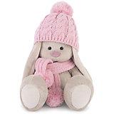 Зайка Ми в розовой шапочке и шарфе (большая)