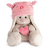Зайка Ми в розовой шапке с сердечком (малыш)