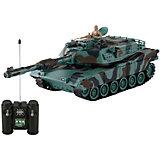 Радиоуправляемая игрушка Yako Toys Боевой танк М1А2 Абрамс, 1:24, зеленый