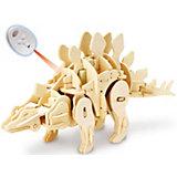 Деревянный конструктор Стегозавр , звуковой контроль, звуковые эффекты