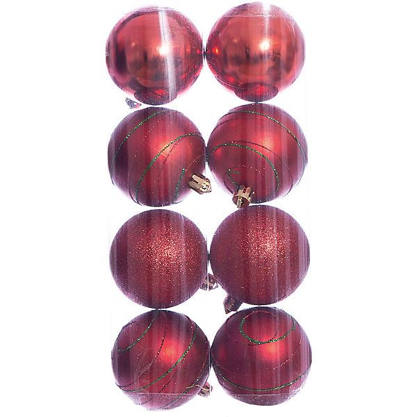 Набор шаров 8*6см Magic Story красный