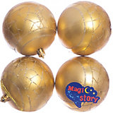 Набор шаров 4*8см Magic Story золото