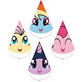 """Набор колпачков для праздника My Little Pony """"Любимый пони"""" 4шт."""