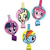 """Набор праздничных свистков My Little Pony """"Дуделка"""" 4шт."""