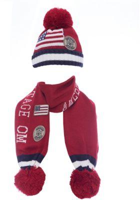 Комплект: шапка и шарф Original Marines для мальчика - красный