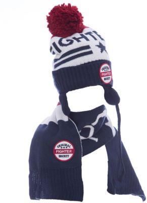 Комплект: шапка и шарф Original Marines для мальчика - синий