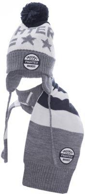 Комплект: шапка и шарф Original Marines для мальчика - серый