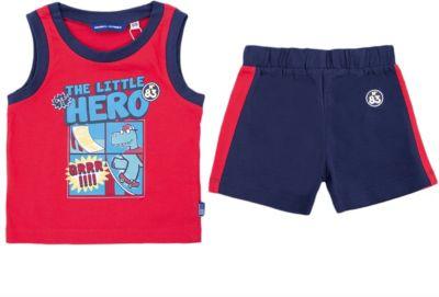 Комплект:майка и шорты Original Marines для мальчика - красный